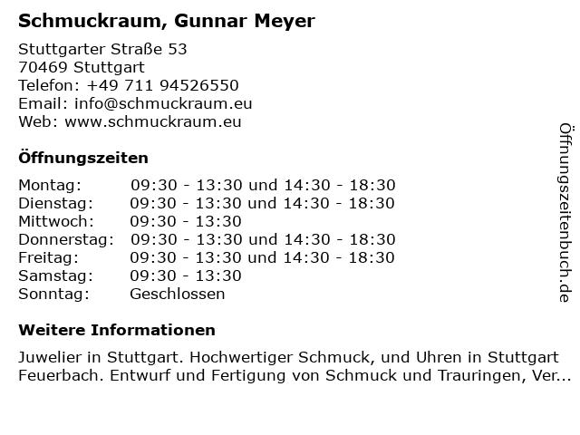 Schmuckraum, Gunnar Meyer in Stuttgart: Adresse und Öffnungszeiten