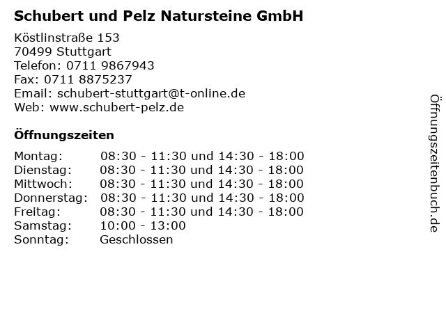 Schubert und Pelz Natursteine GmbH in Stuttgart: Adresse und Öffnungszeiten