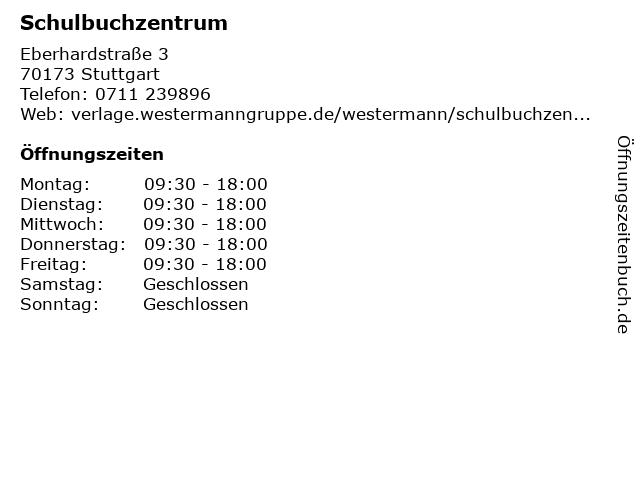 Schulbuchzentrum in Stuttgart: Adresse und Öffnungszeiten
