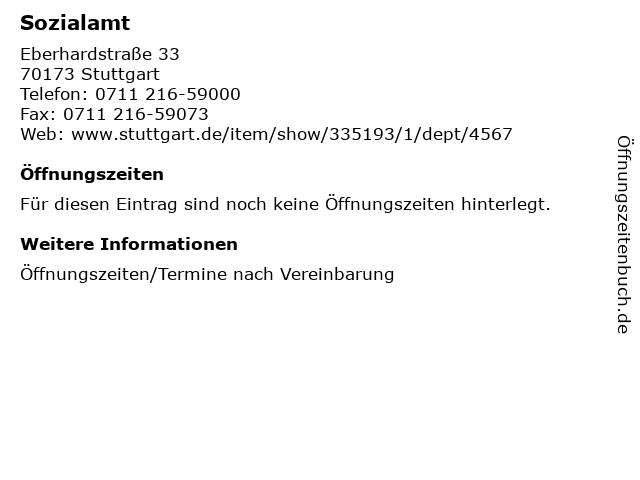 Sozialamt in Stuttgart: Adresse und Öffnungszeiten