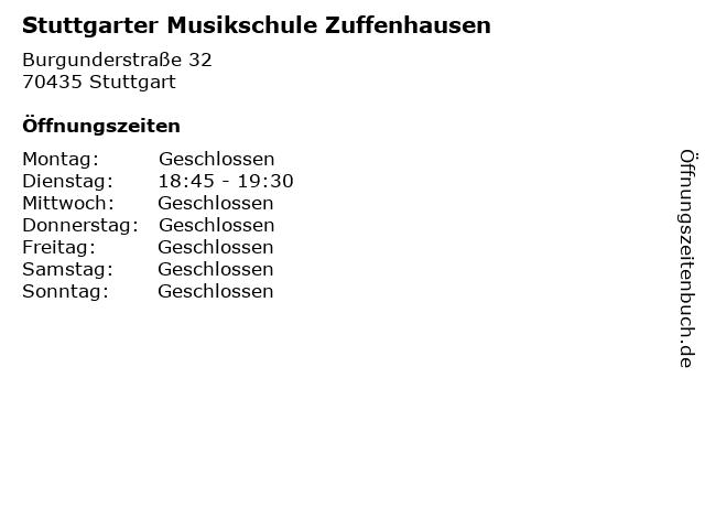 Stuttgarter Musikschule Zuffenhausen in Stuttgart: Adresse und Öffnungszeiten