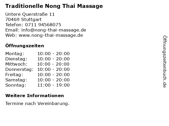 Nong thai massage
