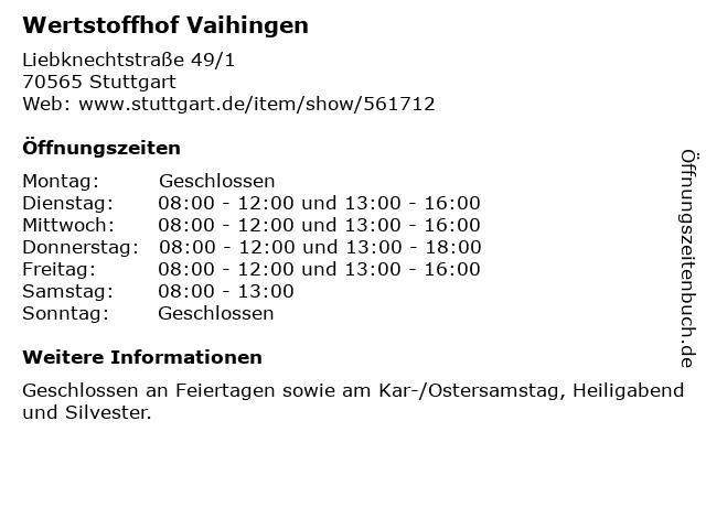 Wertstoffhof Köln öffnungszeiten