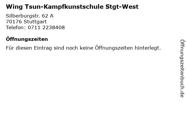 Wing Tsun-Kampfkunstschule Stgt-West in Stuttgart: Adresse und Öffnungszeiten