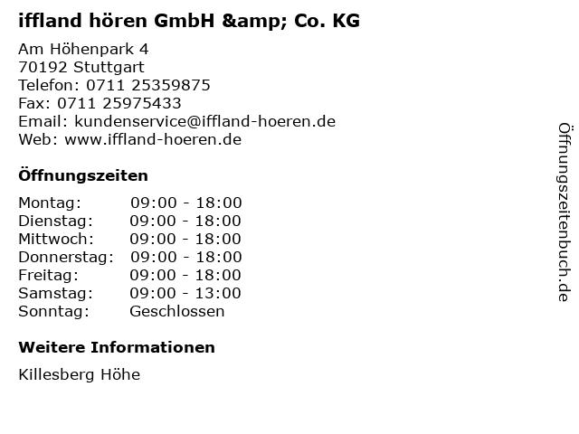 iffland hören GmbH & Co. KG in Stuttgart: Adresse und Öffnungszeiten