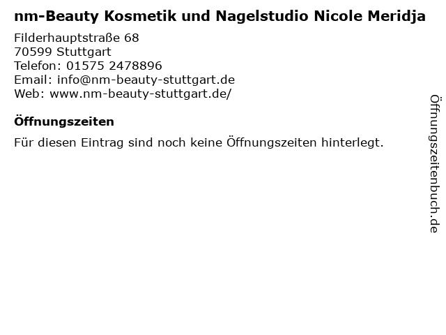 nm-Beauty Kosmetik und Nagelstudio Nicole Meridja in Stuttgart: Adresse und Öffnungszeiten