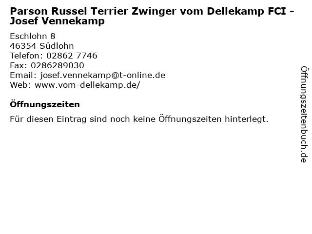 Parson Russel Terrier Zwinger vom Dellekamp FCI - Josef Vennekamp in Südlohn: Adresse und Öffnungszeiten