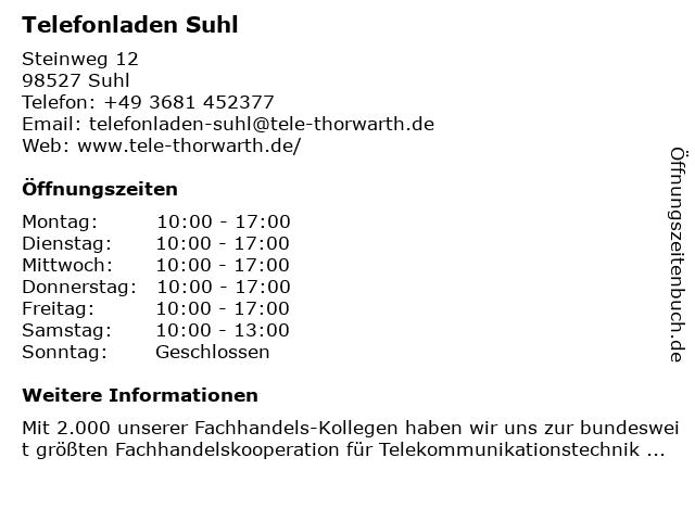 The Phone House in Suhl: Adresse und Öffnungszeiten