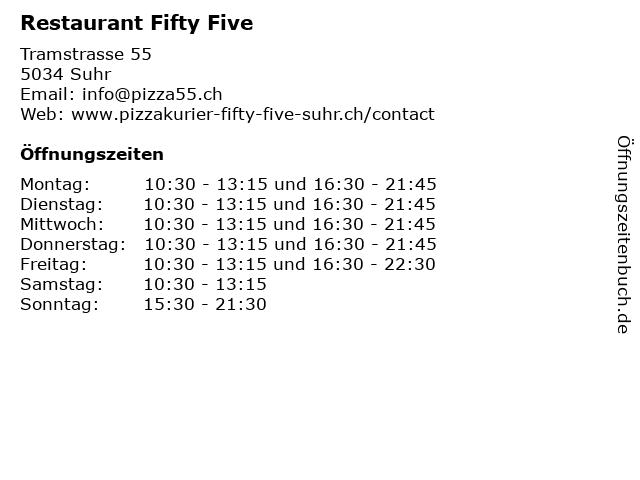 Restaurant Fifty Five in Suhr: Adresse und Öffnungszeiten
