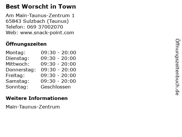 Best Worscht in Town in Sulzbach (Taunus): Adresse und Öffnungszeiten