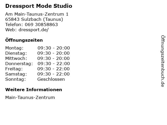 Dressport Mode Studio in Sulzbach (Taunus): Adresse und Öffnungszeiten