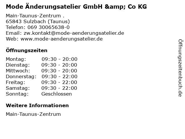 Mode Änderungsatelier GmbH & Co KG in Sulzbach (Taunus): Adresse und Öffnungszeiten