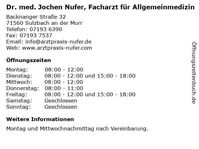 Dr. Nufer Sulzbach