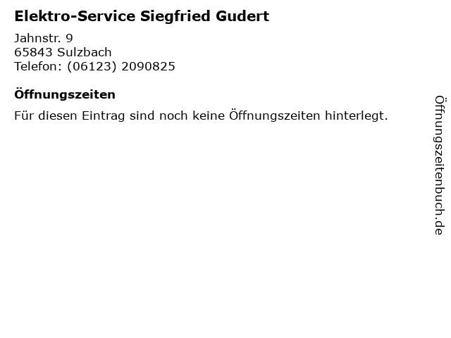 Elektro-Service Siegfried Gudert in Sulzbach: Adresse und Öffnungszeiten