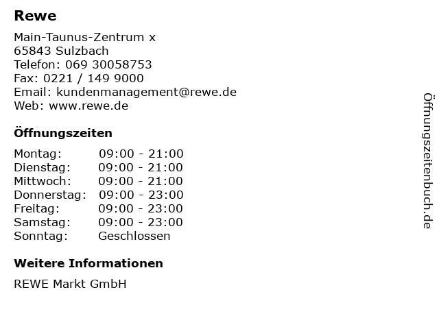 REWE Markt GmbH in Sulzbach: Adresse und Öffnungszeiten
