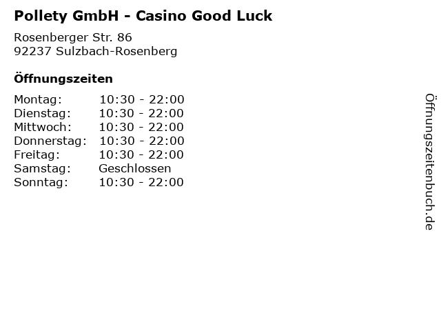 Pollety GmbH - Casino Good Luck in Sulzbach-Rosenberg: Adresse und Öffnungszeiten
