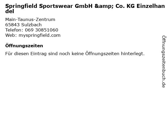 Springfield Sportswear GmbH & Co. KG Einzelhandel in Sulzbach: Adresse und Öffnungszeiten