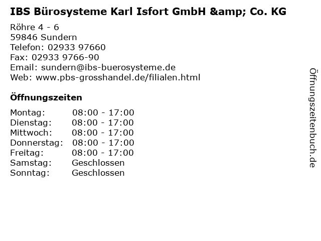 ᐅ öffnungszeiten Ibs Bürosysteme Karl Isfort Gmbh Co Kg