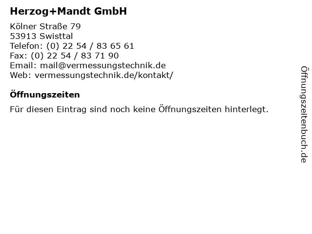 Herzog+Mandt GmbH in Swisttal: Adresse und Öffnungszeiten