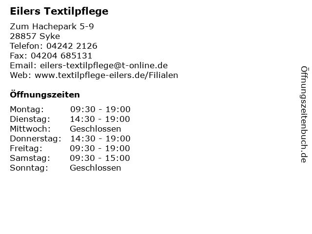 Eilers Textilpflege in Syke: Adresse und Öffnungszeiten