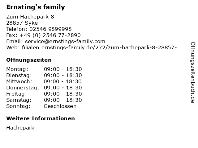 Ernsting's family in Syke: Adresse und Öffnungszeiten