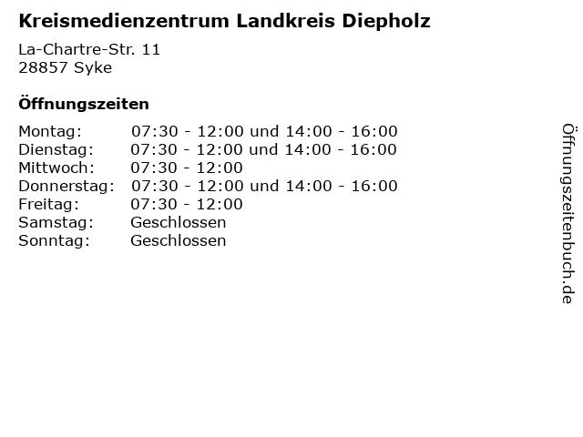 Kreismedienzentrum Landkreis Diepholz in Syke: Adresse und Öffnungszeiten