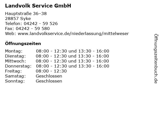 Landvolk Service GmbH in Syke: Adresse und Öffnungszeiten