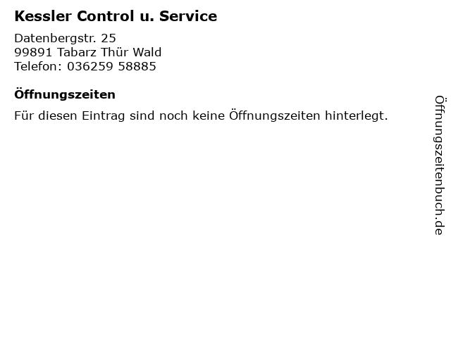 Kessler Control u. Service in Tabarz Thür Wald: Adresse und Öffnungszeiten