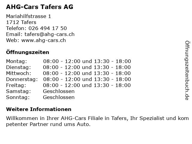 Auto Schweingruber AG - BP Tankstelle in Tafers: Adresse und Öffnungszeiten
