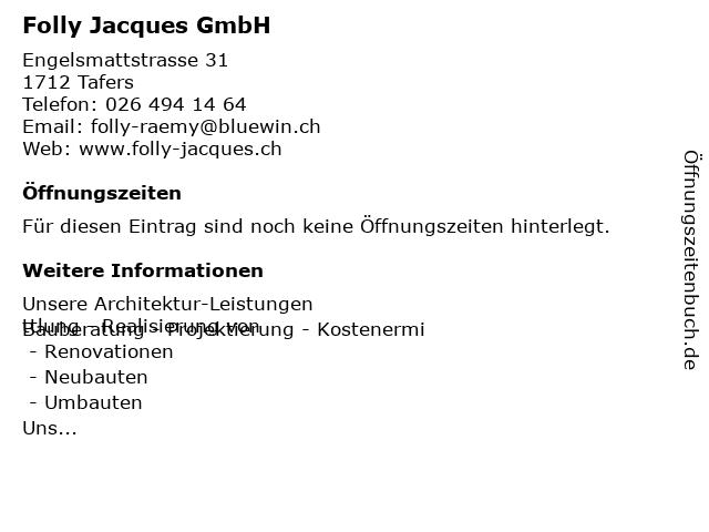 Folly Jacques GmbH in Tafers: Adresse und Öffnungszeiten