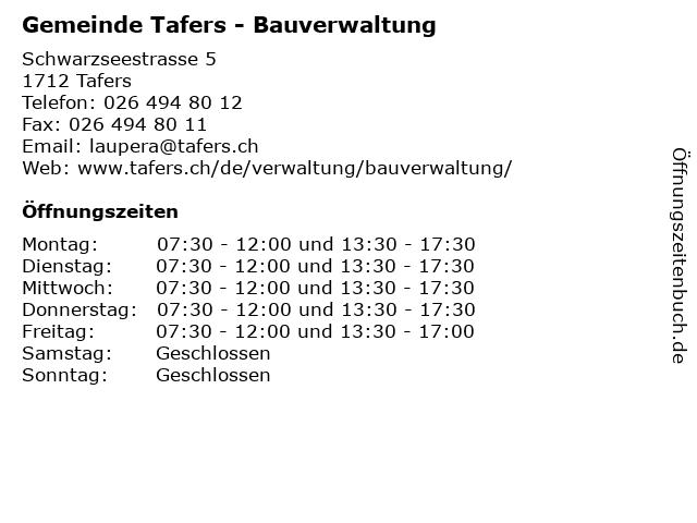 Gemeinde Tafers - Bauverwaltung in Tafers: Adresse und Öffnungszeiten