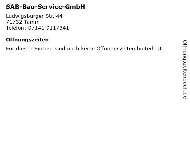 SAB-Bau-Service-GmbH in Tamm: Adresse und Öffnungszeiten