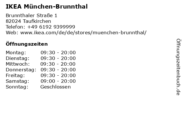 IKEA Deutschland GmbH & Co. KG (Restaurant) in Taufkirchen: Adresse und Öffnungszeiten