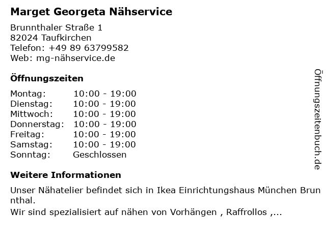 IKEA Deutschland GmbH und Co. KG (Nähservice) in Taufkirchen: Adresse und Öffnungszeiten