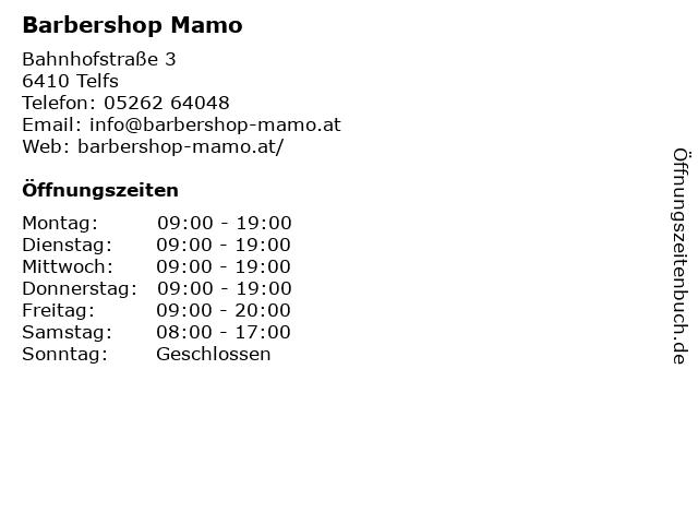 Barbershop Mamo in Telfs: Adresse und Öffnungszeiten