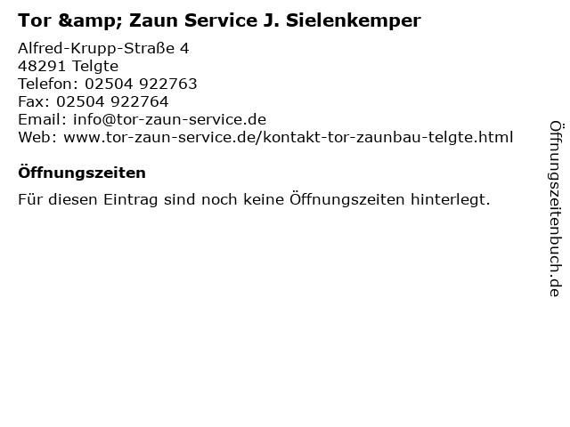Tor & Zaun Service J. Sielenkemper in Telgte: Adresse und Öffnungszeiten