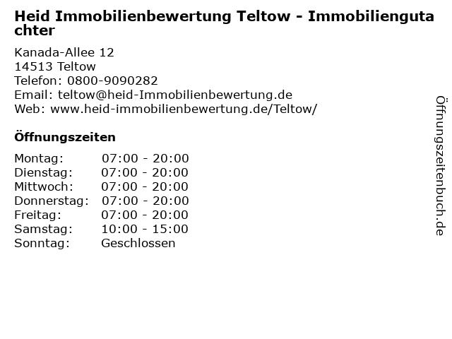 Heid Immobilienbewertung Teltow - Immobiliengutachter in Teltow: Adresse und Öffnungszeiten