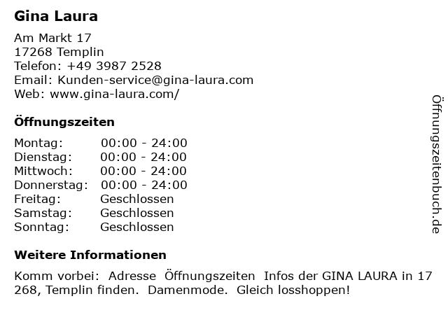 Gina Laura in Templin: Adresse und Öffnungszeiten