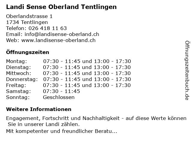 Landi Sense Oberland Tentlingen in Tentlingen: Adresse und Öffnungszeiten