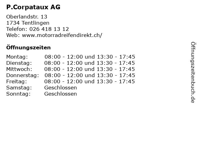 P.Corpataux AG in Tentlingen: Adresse und Öffnungszeiten