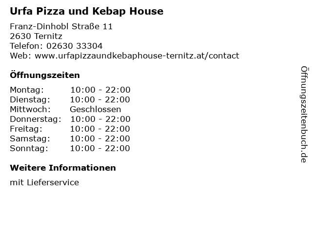 Urfa Pizza und Kebap House in Ternitz: Adresse und Öffnungszeiten