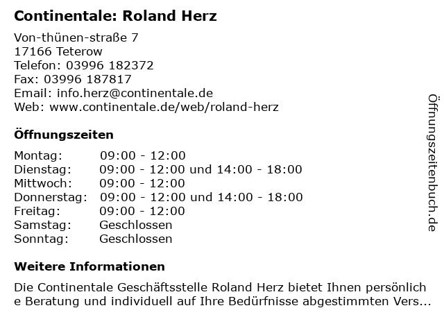 Continentale: Roland Herz in Teterow: Adresse und Öffnungszeiten