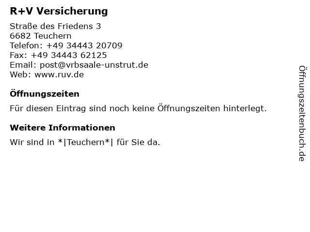 Volks- und Raiffeisenbank Saale-Unstrut eG - Bankstelle Teuchern in Teuchern: Adresse und Öffnungszeiten