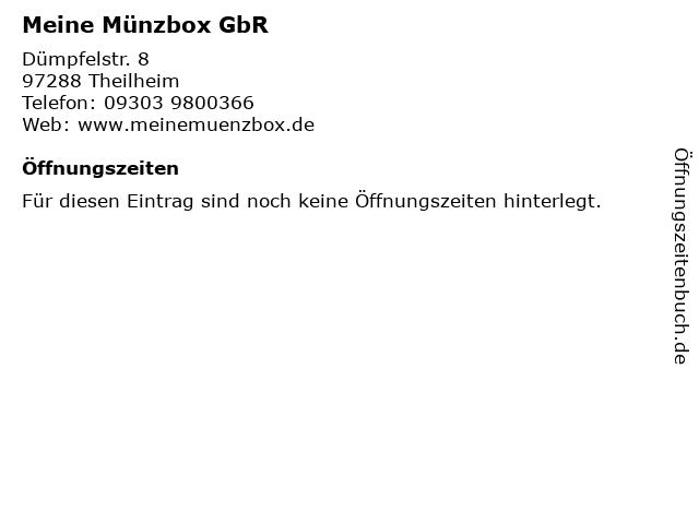 ᐅ öffnungszeiten Meine Münzbox Gbr Dümpfelstr 8 In Theilheim