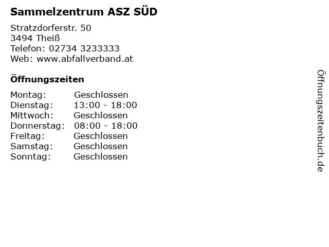 Sammelzentrum ASZ SÜD in Theiß: Adresse und Öffnungszeiten