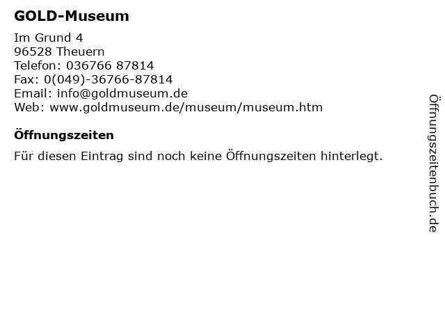 GOLD-Museum in Theuern: Adresse und Öffnungszeiten