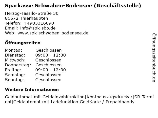 Kreissparkasse Augsburg - Geschäftsstelle Thierhaupten in Thierhaupten: Adresse und Öffnungszeiten