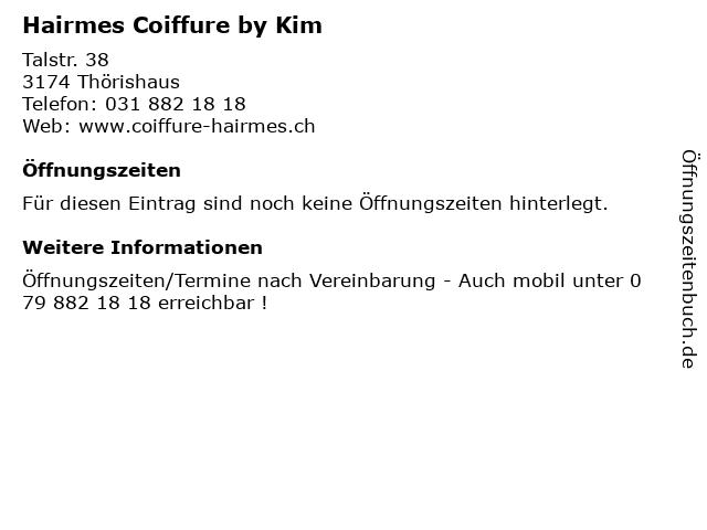 Hairmes Coiffure by Kim in Thörishaus: Adresse und Öffnungszeiten