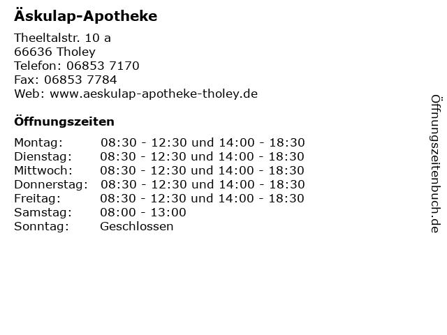 Äskulap-Apotheke in Tholey: Adresse und Öffnungszeiten