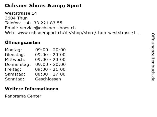 Ochsner Shoes in Thun: Adresse und Öffnungszeiten